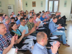 Knapp 70 Teilnehmer informierten sich im Kapitalsaal der Burg Lüdinghausen über Zuschüsse für kleine und mittlere Unternehmen.
